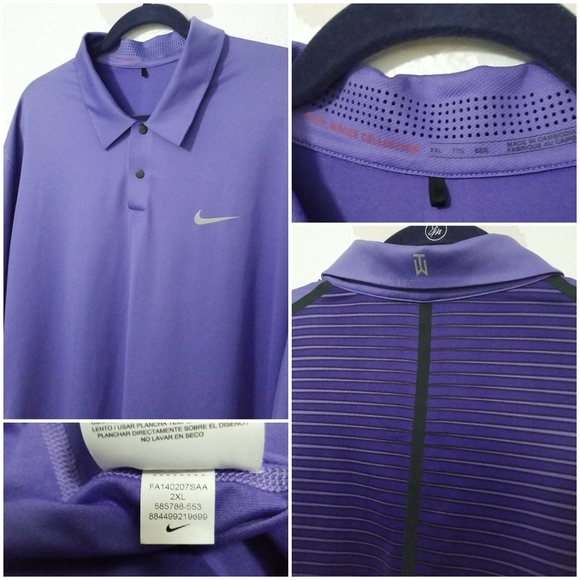 Nike Other - NIKE Tiger Woods Collection Polo Golf Shirt Purple